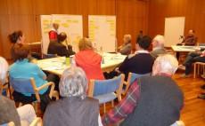 Arbeitsgruppen bei der Diskussion